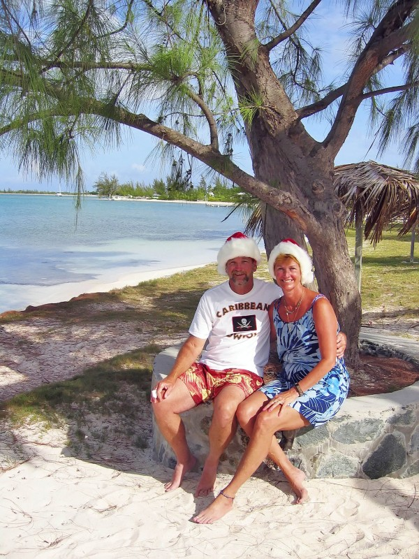Santas at the Anegada Reef Hotel