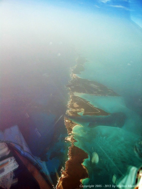 Flying up the Exumas.
