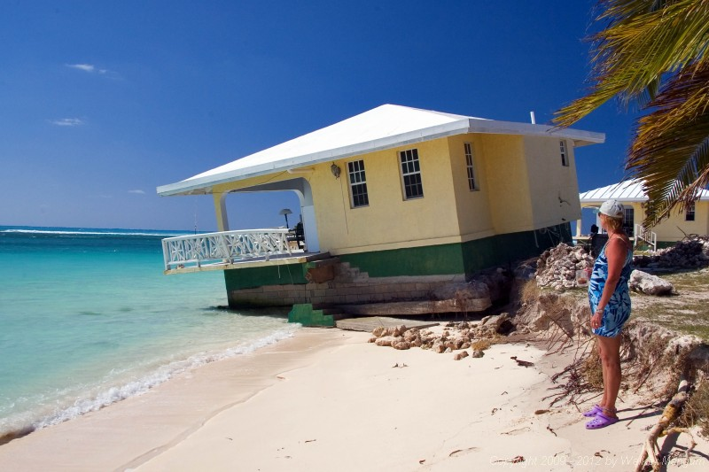 Anegada Seaside Cottages - unit 1 now in the sea.
