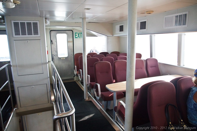 On the way to Anegada on the BVI Patriot - the new Road Town Fast Ferry catamaran. This is the upper deck salon. The lower deck salon is 4 or 5 times this size.