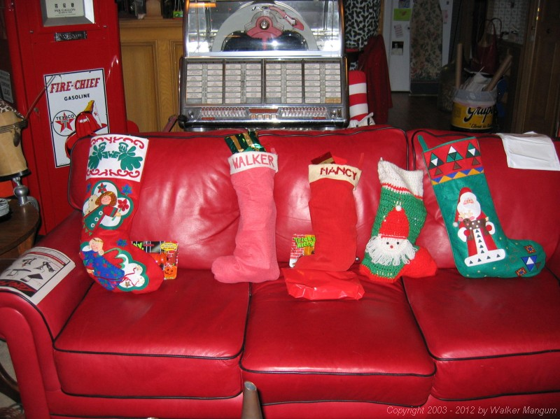 Christmas stockings.