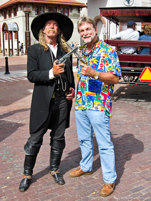 Pirate vs gunslinger. Walker attempts to hold up Wild Bill. You can take the cowboy out of the Caribbean, but you can't take the Caribbean out of the cowboy.